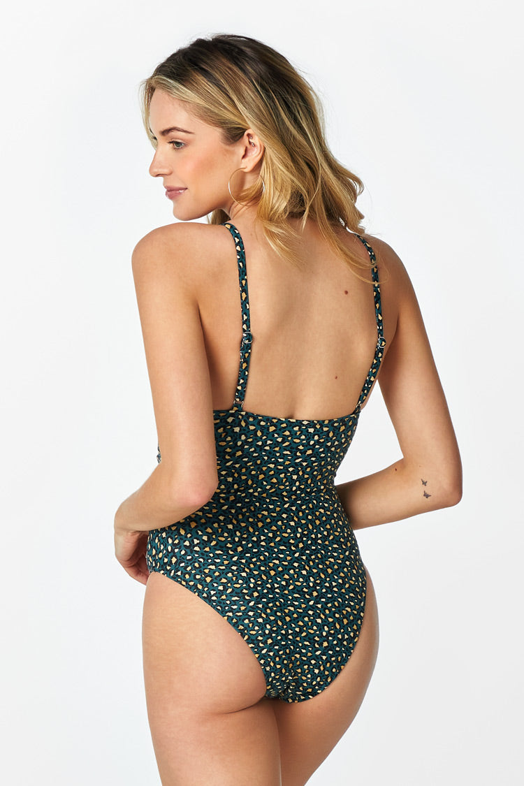 Leopard O-Ring One Piece Swimsuit