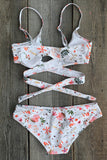 Cupshe By My Side Cross Bikini Set