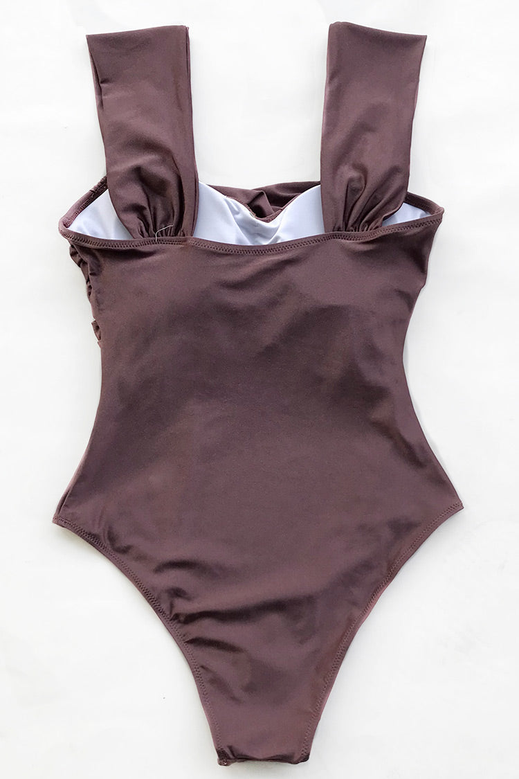 Walk On Clouds Shirring One-piece Swimsuit