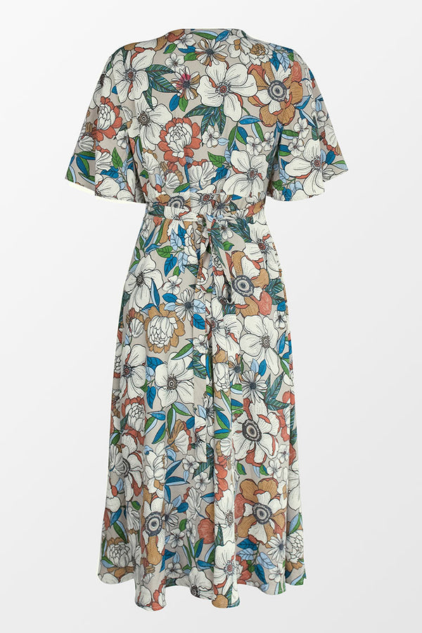 Scarlette Floral V-Neck Midi Dress