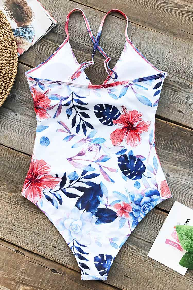 Cloudy Sphere Print One-piece Swimsuit