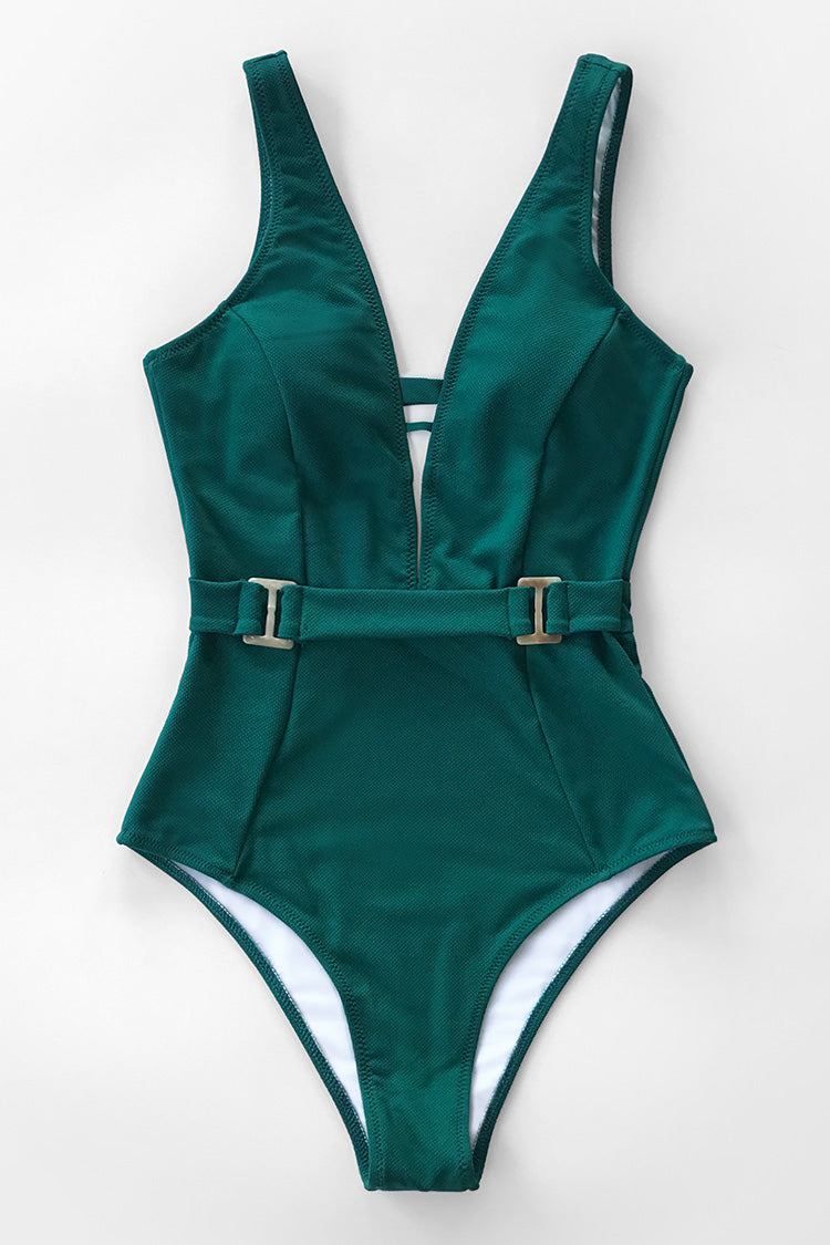 Stunning Green One Piece Swimsuit
