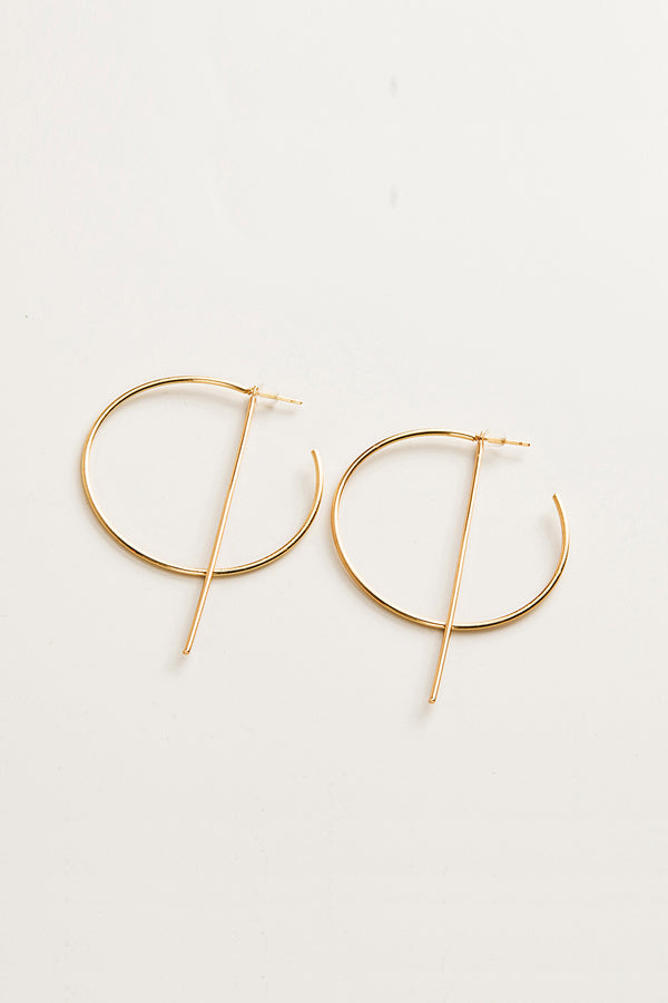 Golden Geometric Statement Earrings