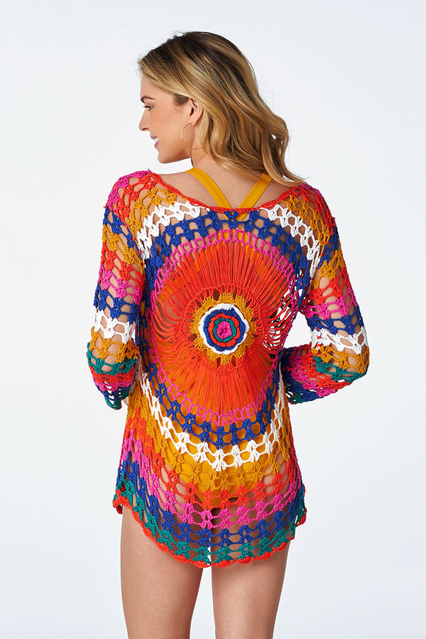 Colorful Knitted Cover Up