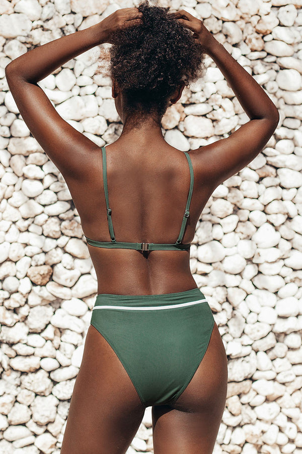 Cute Green High Waisted Bikini