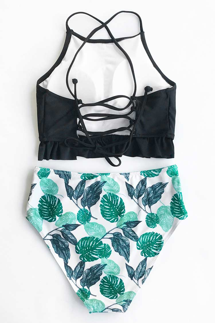 Lingering Charm High-waisted Bikini Set