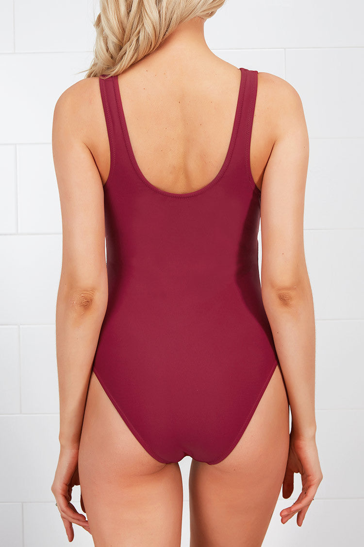 Cupshe Got It Mesh Splicing One-piece Swimsuit