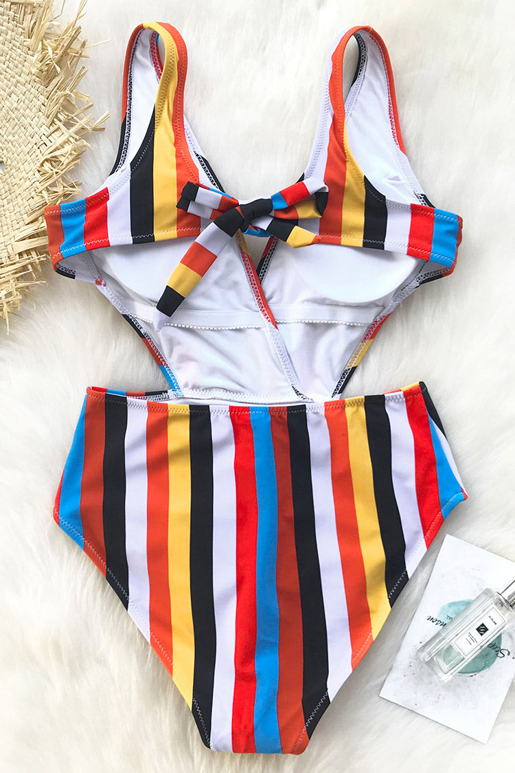 Passing Fancy Stripe One-piece Swimsuit