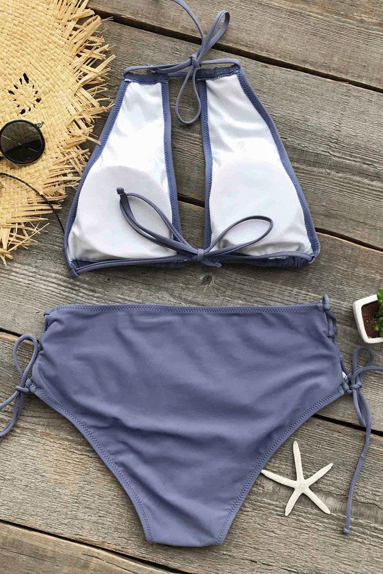 Cold Wind Halter Bikini Set