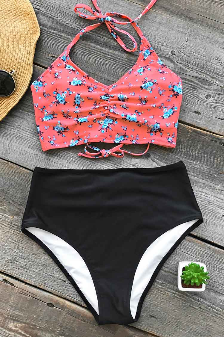 Cupshe Attract Your Attention Halter Bikini Set