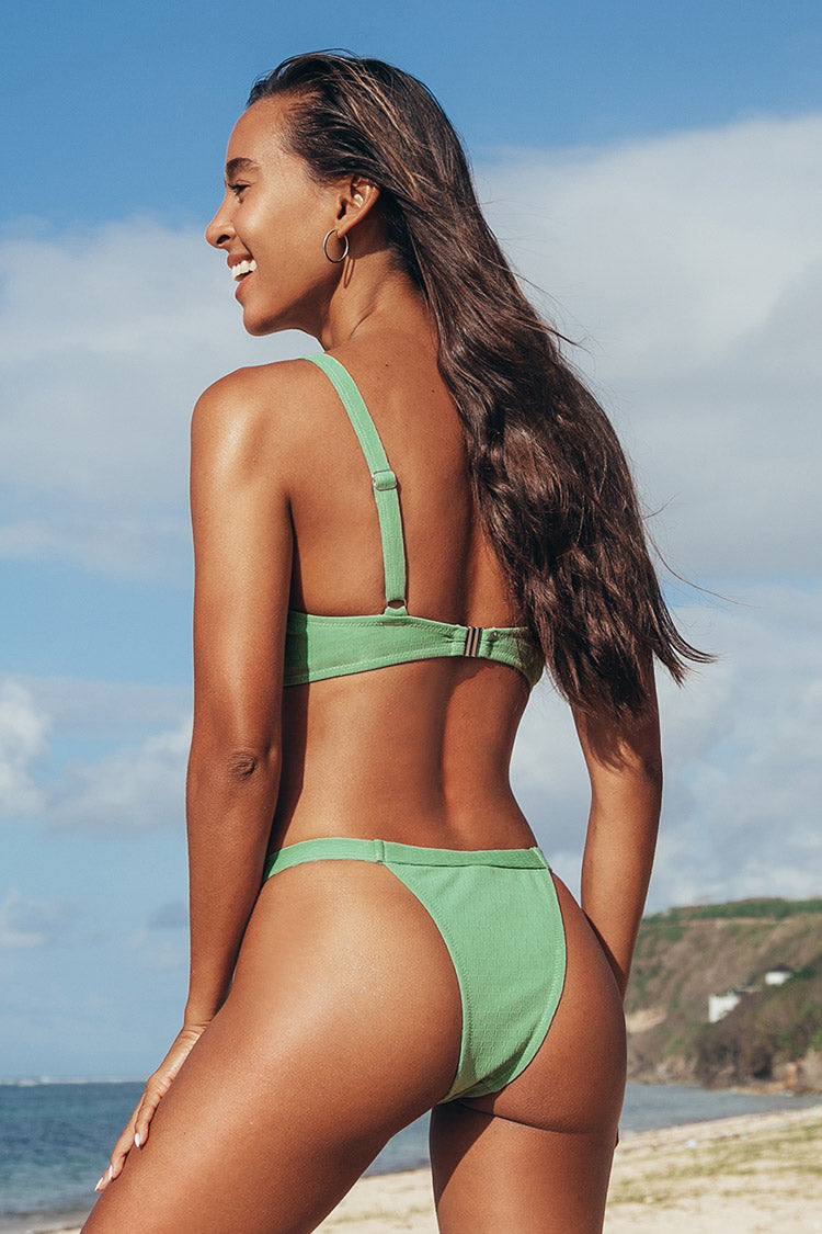 Light Green Low Rise Thong Bikini