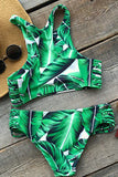 Cupshe Tropical Trip Leaves Printing Bikini Set