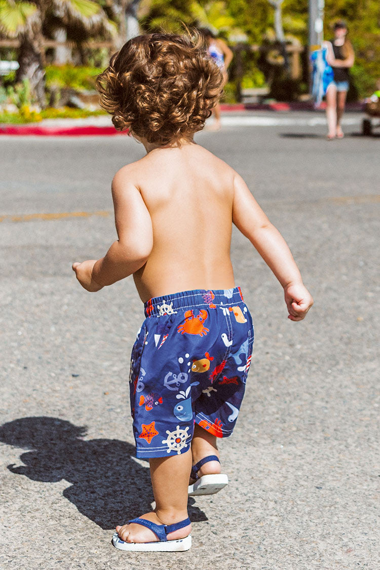 Sea Animals Boys Swim Trunks