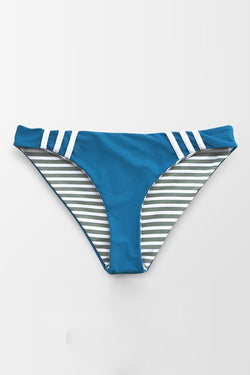 Blue And Stripe Reversible Bikini Bottom