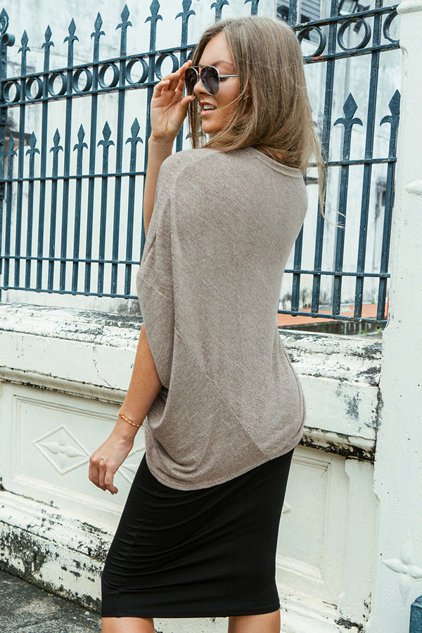 Grey Loose Fit Top