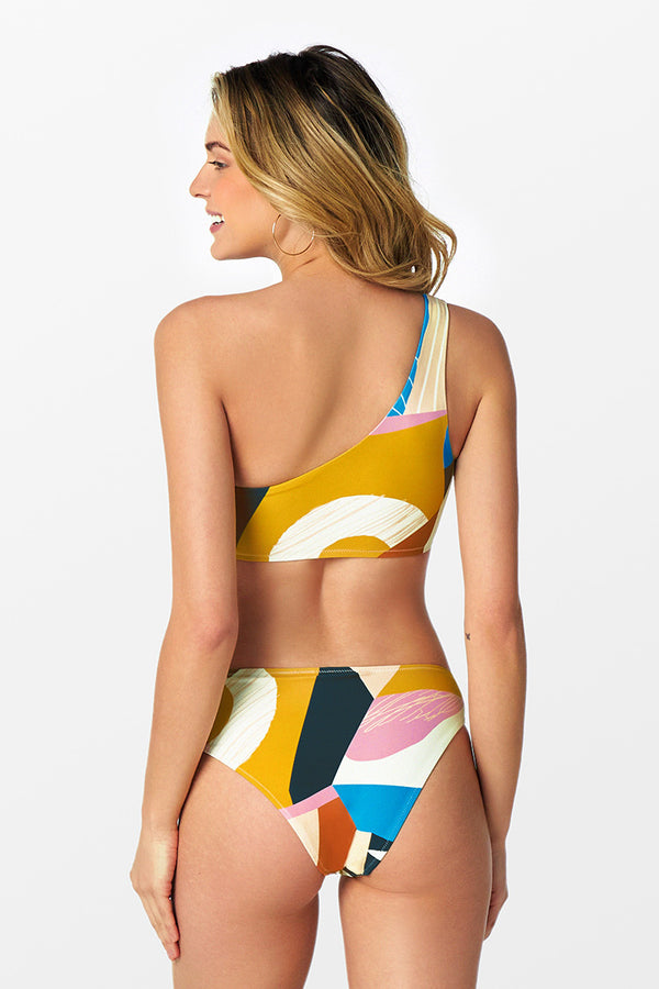 Dana Abstract Print One Shoulder Bikini