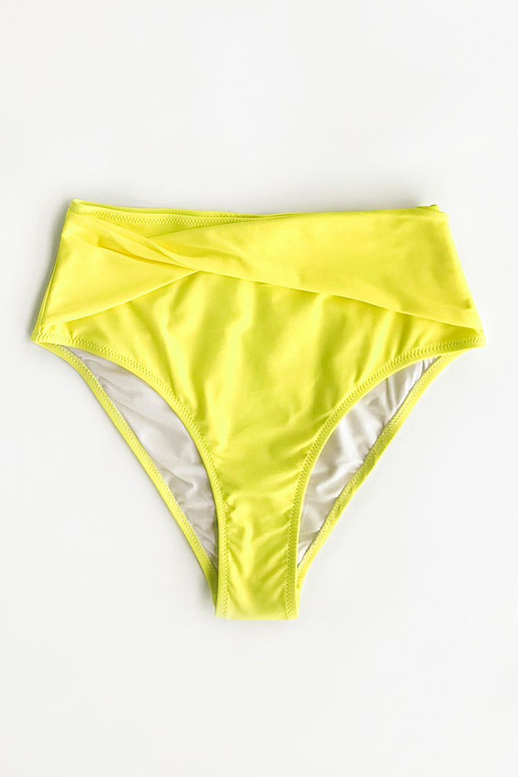 Yellow High-Waisted Bikini Bottom