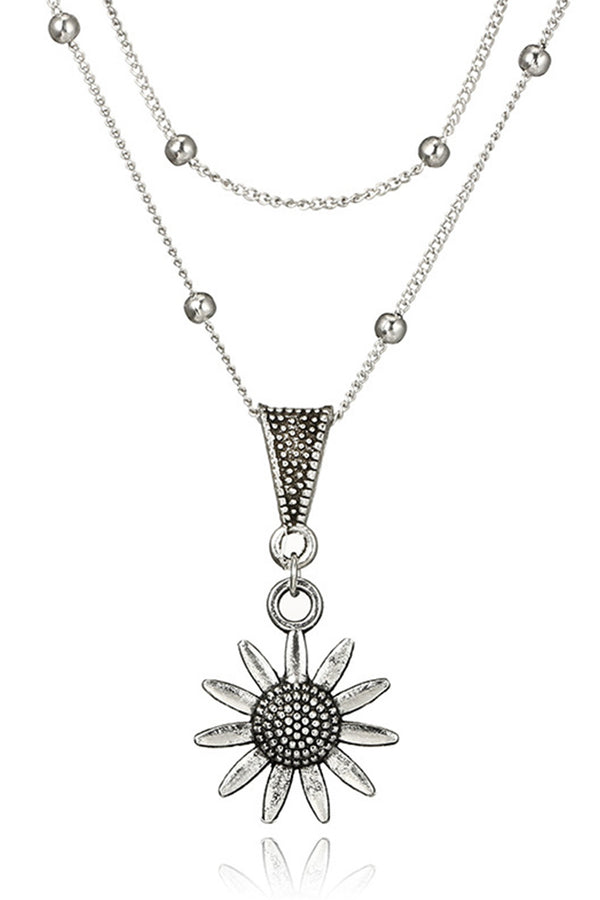 Bohemian style Sunflower Necklace