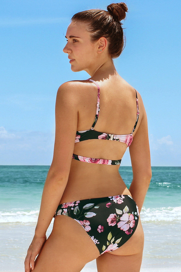 Floral Knotted Bikini