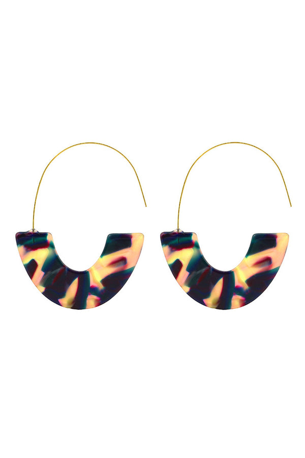 Half-and-Half Candy Hoop Earrings