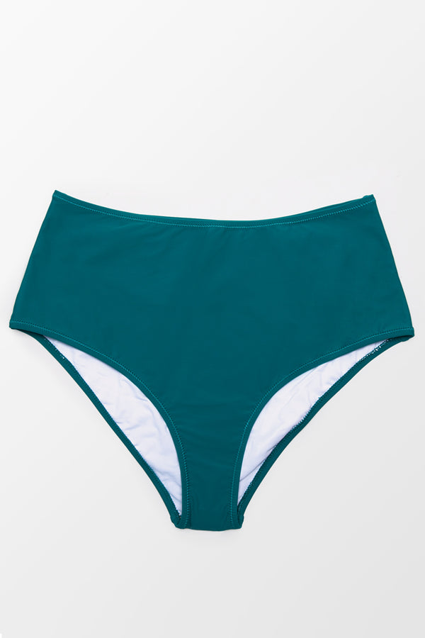 Teal High Waisted Plus Size Bikini Bottom