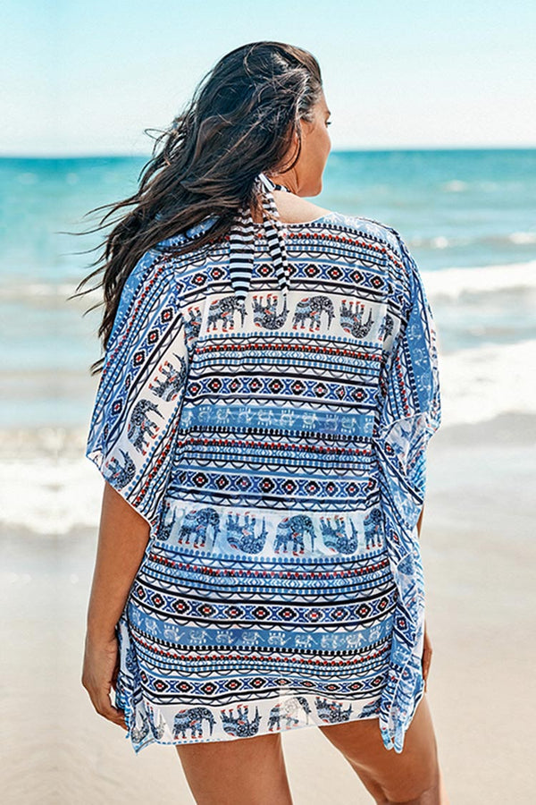 Boho Elephant Plus Size Cover Up