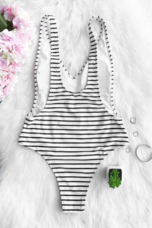 Happiness is Truth Plunging One-piece Swimsuit