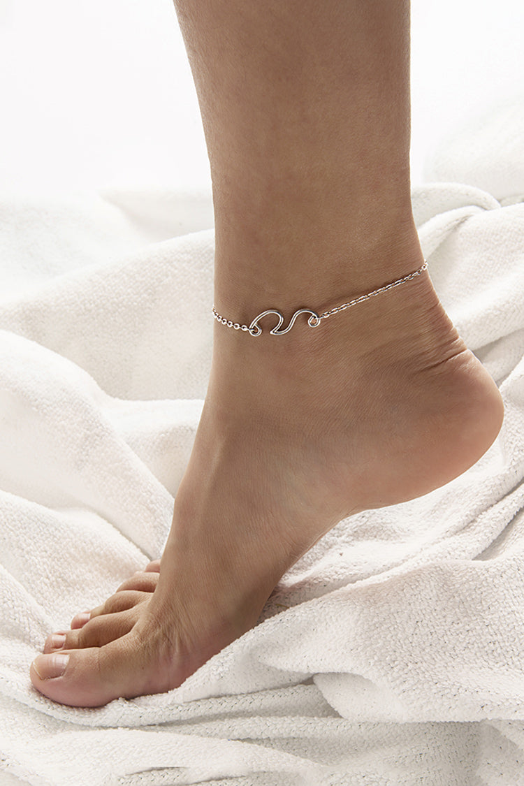 Silver Spray Anklet