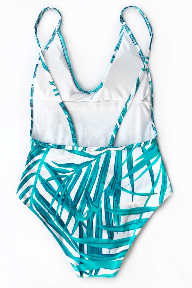 Cupshe Story of Beach Leaves One-piece Swimsuit