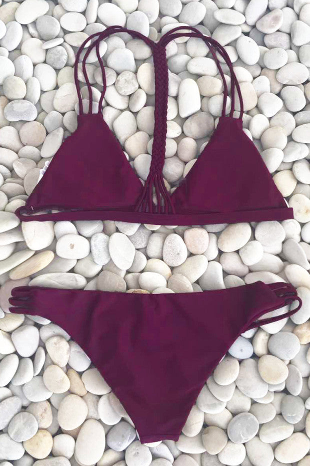 Cupshe  Amuse Society Cross Bikini Set