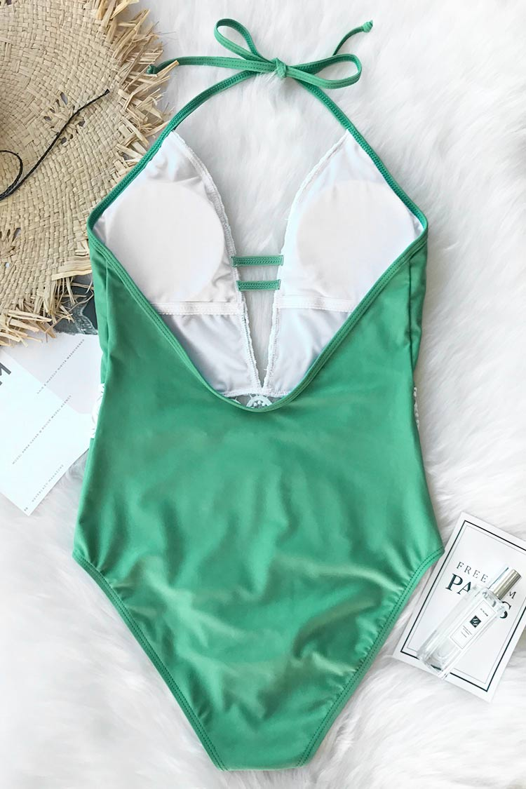 Thick Forest Halter One-piece Swimsuit