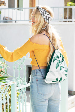 Spring Breeze Drawstring Backpack