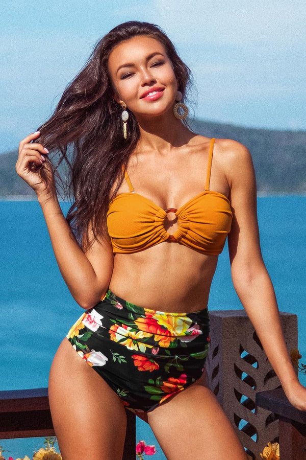 Orange O-Ring Bikini Top