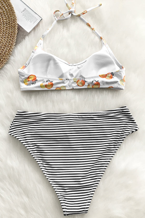 Good At Surprise Stripe Bikini Set