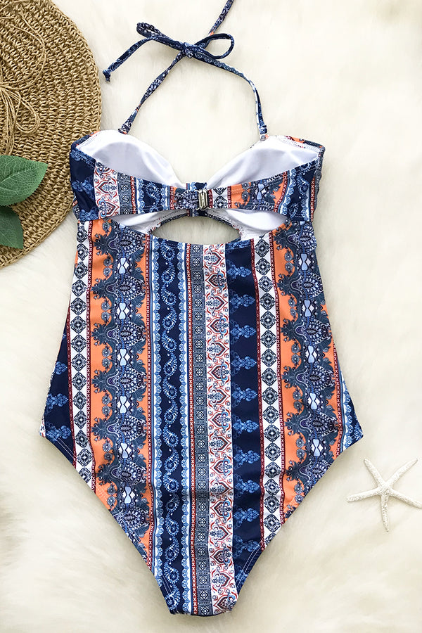 Always On My Mind Print One-piece Swimsuit