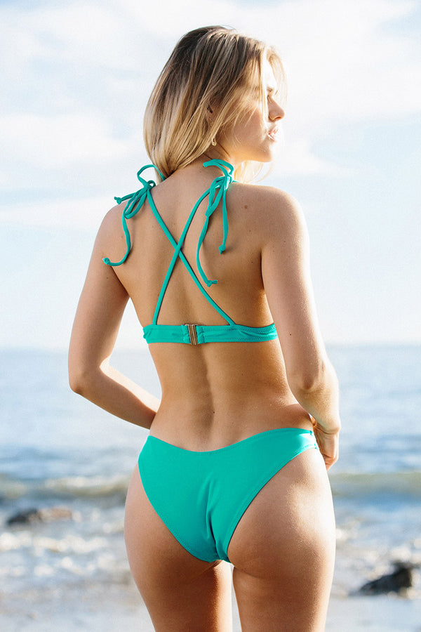 Teal with Fun Printed Bikini
