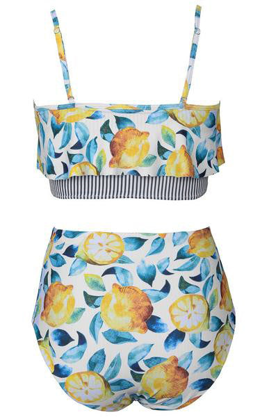 Summer Lemon Falbala Bikini Set