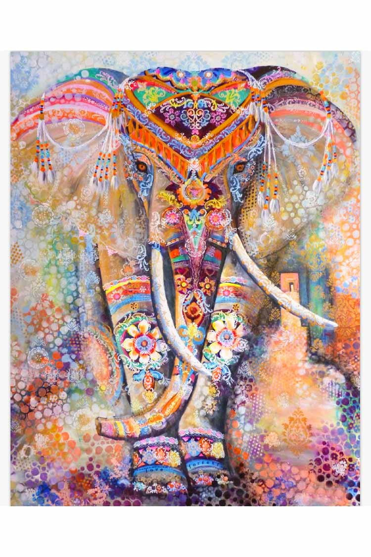 Cupshe Walk To Me Elephant Square Tapestry