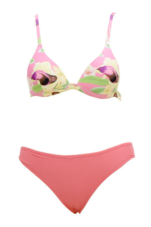 Cupshe Take It to Heart Floral Bikini Set
