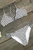 Cupshe Coast of Freedom Stripe Bikini Set