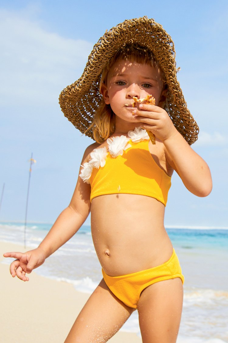 Bright Yellow Bikini for Toddler Girls and Girls