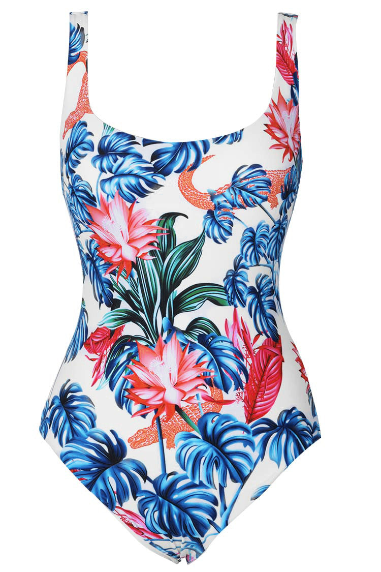 Cupshe Never Forget Me Floral One-piece Swimsuit