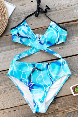 Water Ripple Wrap One-piece Swimsuit
