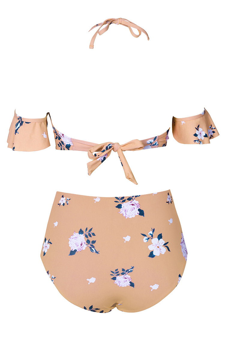 Cupshe Rose Thorn Print Bikini Set