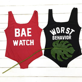 Cupshe Worst Behavior Open Back Swimsuit