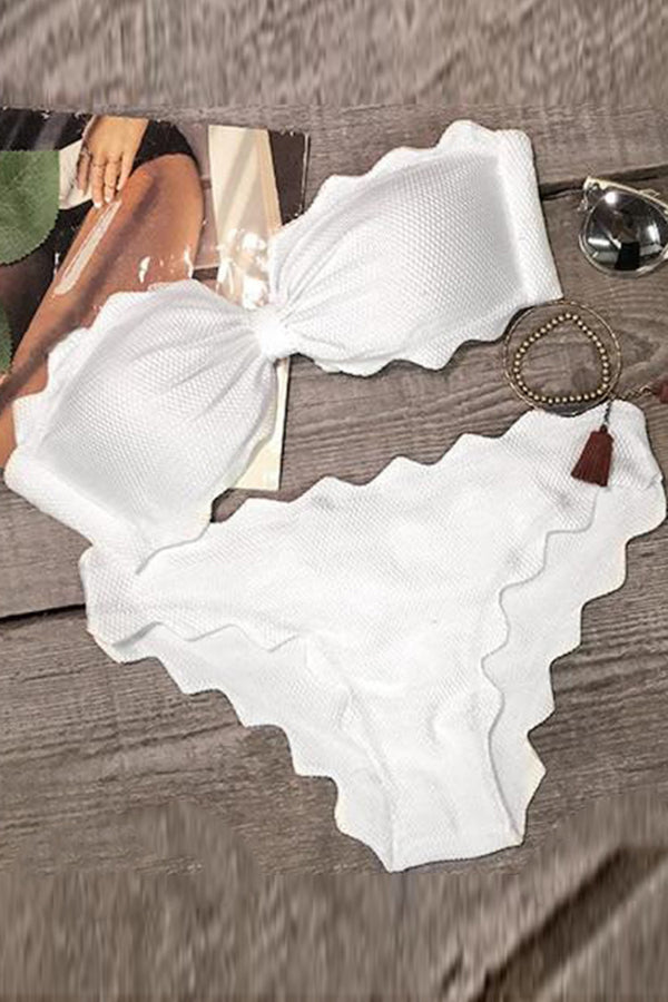 Shining Day Waves Halter Bikini Set