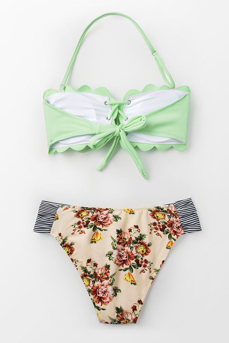 Cheeky Cut Side Floral Bikini Bottom