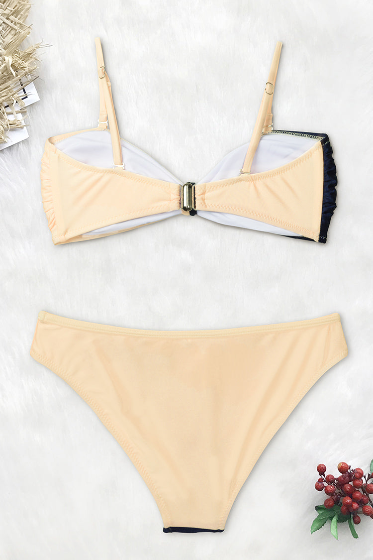 Lost In the Dream Colorblock Bikini Top