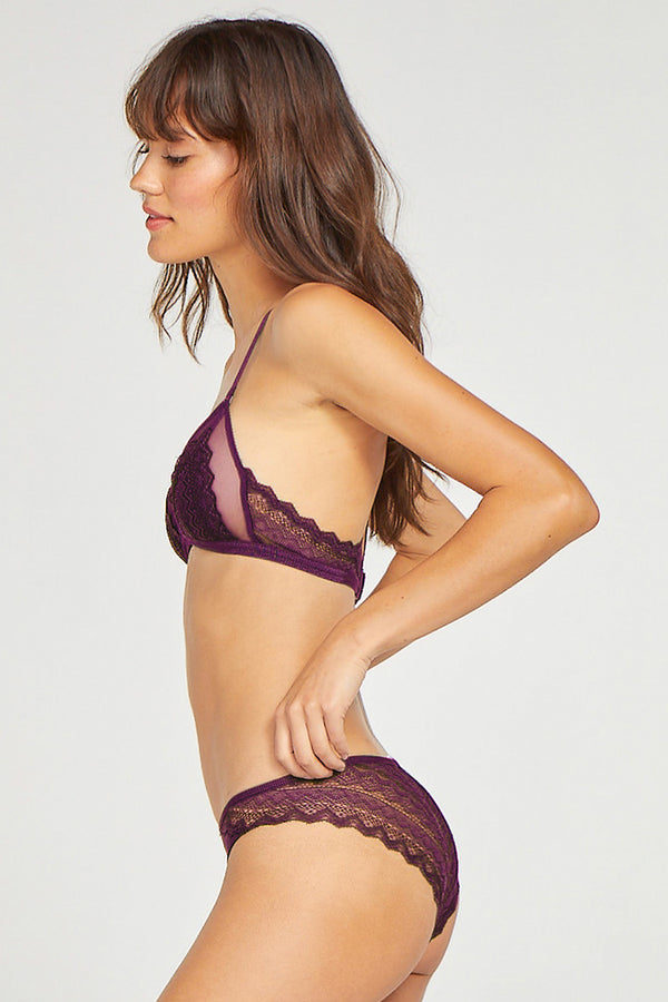 Purple Triangle Lingerie