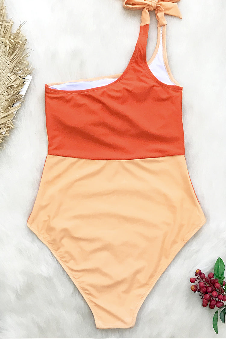 Orange Crush One Shoulder One-Piece Swimsuit